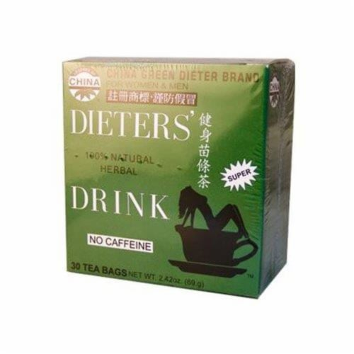 Uncle Lee's China Green Dieters Tea Caffeine Free - 30 Tea Bags Perspective: front