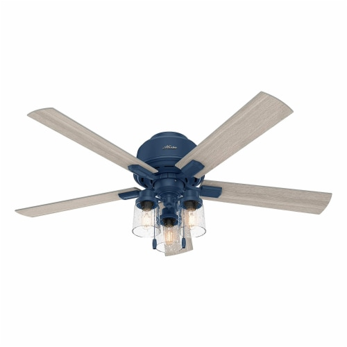 Hunter Fan Company Hartland 52  Indoor Home Low Profile Ceiling Fan w/ LED Light Perspective: front