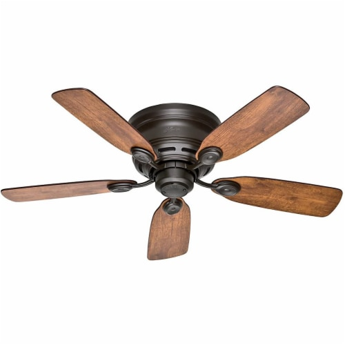 """Hunter Low Profile IV 42"""" Quiet Home Ceiling Fan with Pull Chain, New Bronze Perspective: front"""