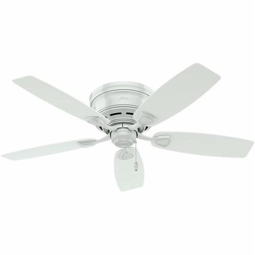 """Hunter Fan Company 53119 Sea Wind Versatile Low Profile 48"""" Ceiling Fan, White Perspective: front"""