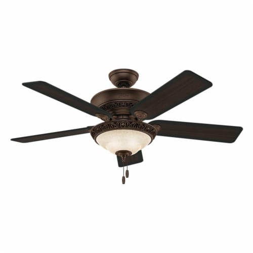 Hunter Fan Company 53200 Italian Countryside Ceiling Fan with Light, P.A. Cocoa Perspective: front