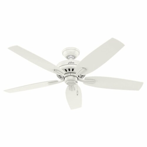 Hunter Fan 53319 Company Newsome 52 Inch Quiet Indoor Ceiling Fan, Fresh White Perspective: front