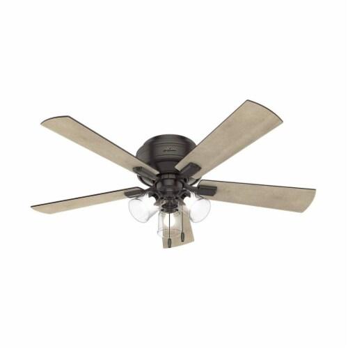 """Hunter Fan Company Crestfield 52"""" Ceiling Fan w/ Light, Noble Bronze Perspective: front"""