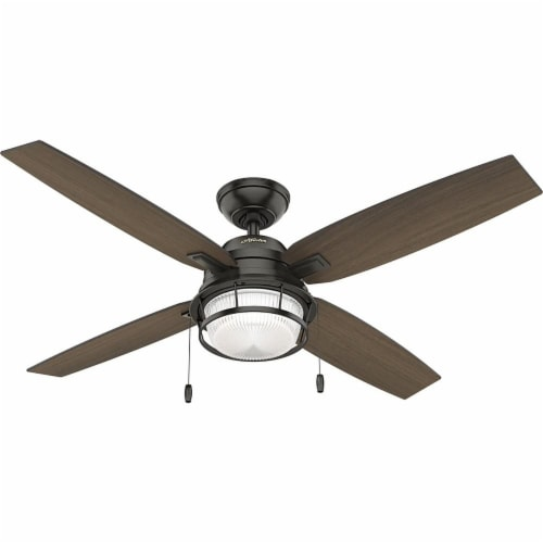 Hunter Ocala 52 Inch Indoor/Outdoor Ceiling Fan w/ LED Light, Noble Bronze Perspective: front