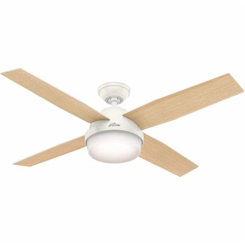 Hunter Fan Company 59217 Dempsey 52 Inch Modern Home Ceiling Fan w/ Light, White Perspective: front