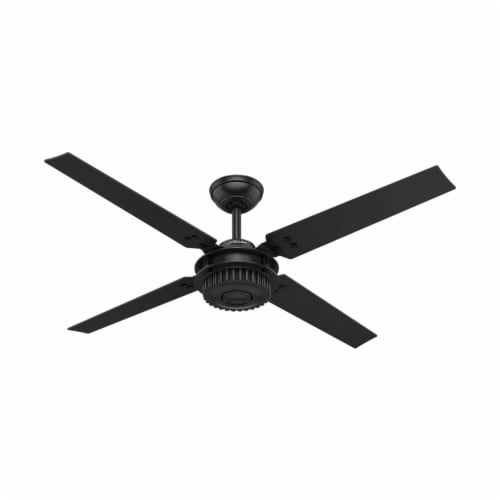 "Hunter Fan Company 54"" Chronicle Industrial Ceiling Fan w/ Control, Matte Black Perspective: front"