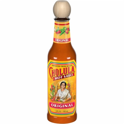 Cholula Hot Sauce Perspective: front
