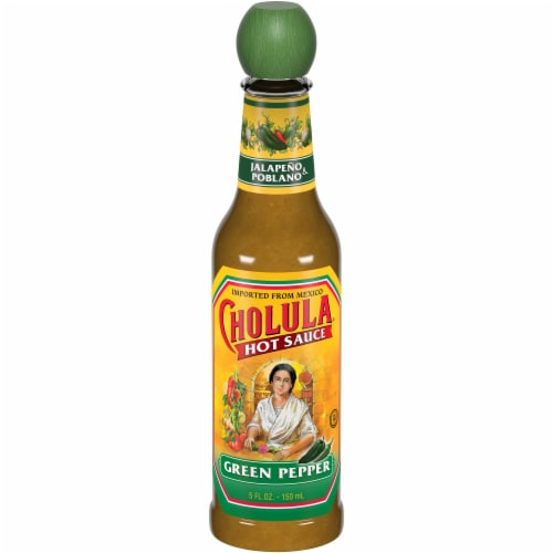 Cholula Green Pepper Hot Sauce Perspective: front