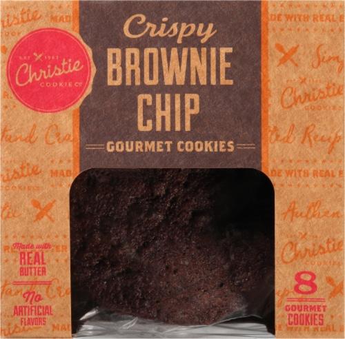 Christie Cookie Co. Crispy Brownie Chip Gourmet Cookies Perspective: front