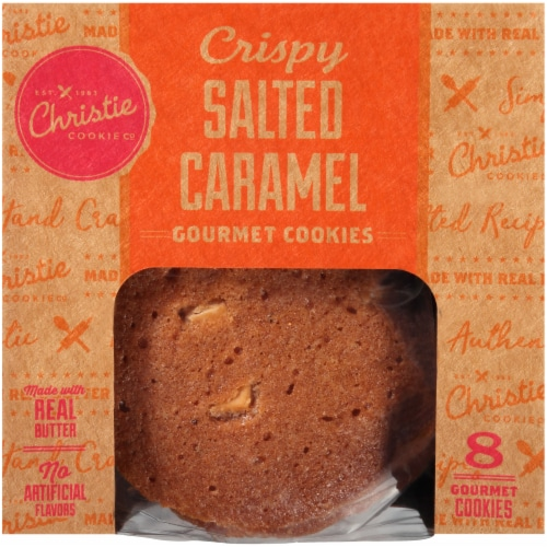 Christie Cookie Co. Crispy Salted Caramel Gourmet Cookies Perspective: front