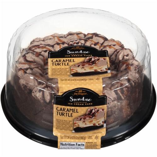 Jon Donaire Caramel Turtle Ice Cream Cake Perspective: front