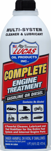 Lucas Oil Products Complete Engine Treatment Perspective: front