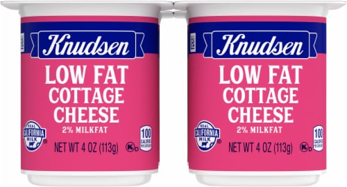 Knudsen On the Go Low Fat Cottage Cheese Snack Pack Perspective: front