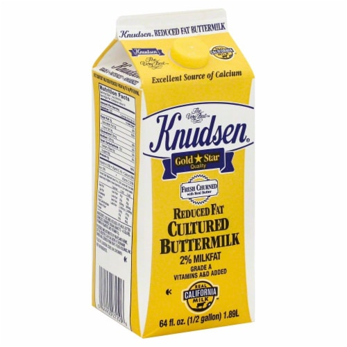 Knudsen 2% Reduced Fat Cultured Buttermilk Perspective: front