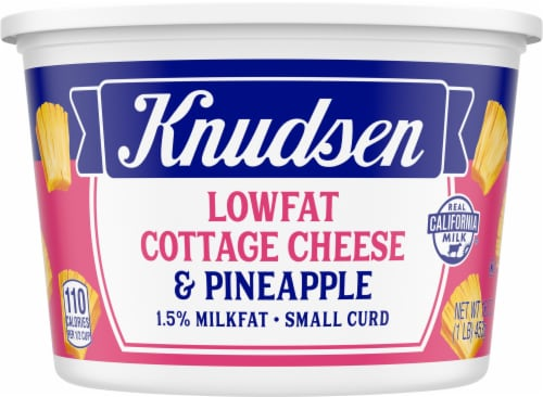 Knudsen Small Curd Low Fat Cottage Cheese & Pineapple Perspective: front