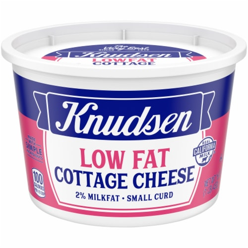 Knudsen Small Curd Low Fat Cottage Cheese Perspective: front