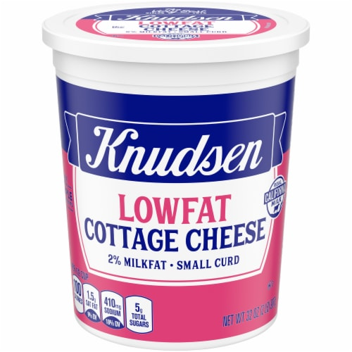 Knudsen Small Curd Lowfat Cottage Cheese Perspective: front