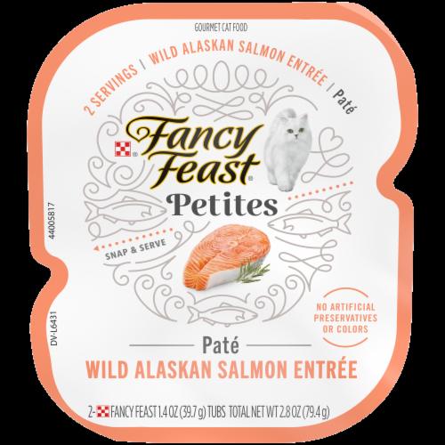 Fancy Feast® Petites Wild Alaskan Salmon Entree Pate Gourmet Wet Cat Food Perspective: front