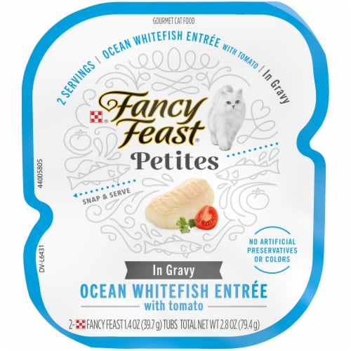 Fancy Feast® Petites Ocean Whitefish Entree Wet Cat Food Perspective: front