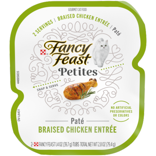 Fancy Feast® Petites Braised Chicken Entree Pate Gourmet Cat Food Perspective: front