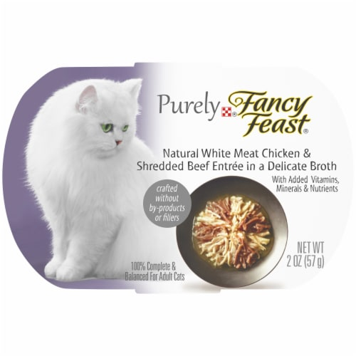 Purina Fancy Feast Purely Natural White Meat Chicken & Beef Entree Wet Cat Food Perspective: front