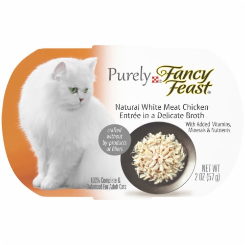 Fancy Feast Purely Natural White Meat Chicken Entree Grain Free Wet Cat Food Perspective: front