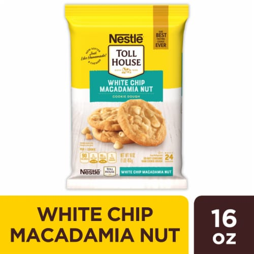 Nestle Toll House White Chip Macadamia Nut Cookie Dough Perspective: front