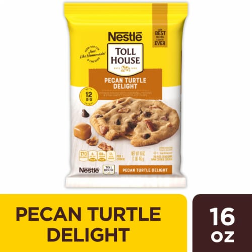 Nestle Toll House Pecan Turtle Delight Cookie Dough Perspective: front