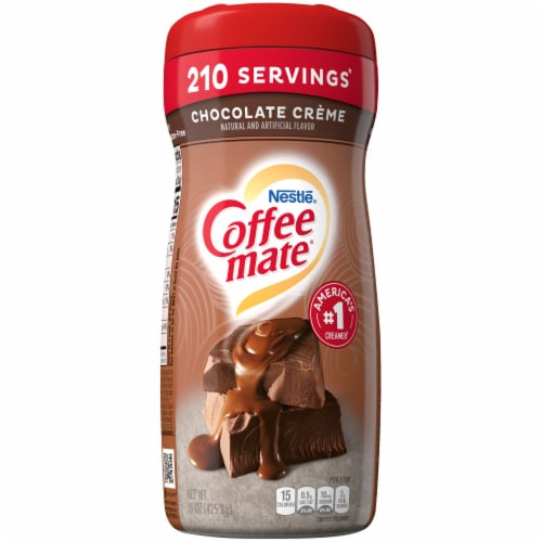 Nestle Coffee mate Chocolate Creme Powder Coffee Creamer Perspective: front