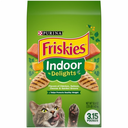 Friskies Indoor Delights Dry Cat Food Perspective: front
