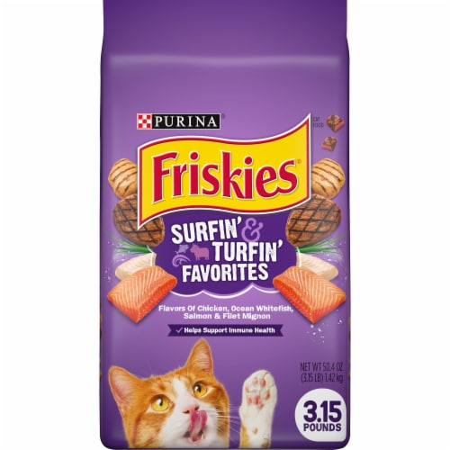 Friskies Surfin' & Turfin' Favorites Dry Cat Food Perspective: front
