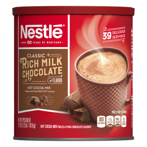 Nestlé Rich Milk Chocolate Hot Cocoa Mix Perspective: front