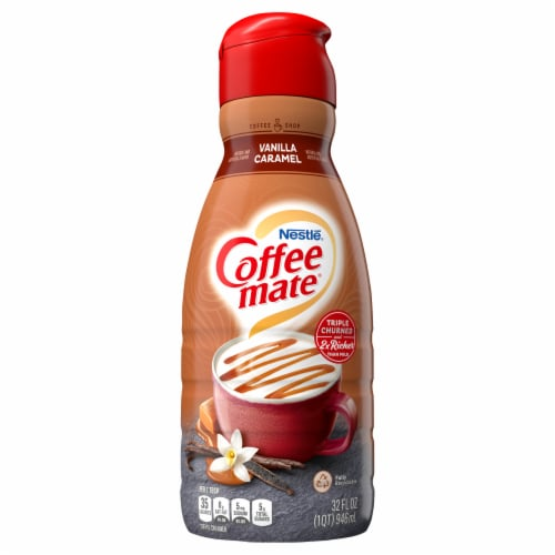 Coffee-mate Vanilla Caramel Liquid Coffee Creamer Perspective: front