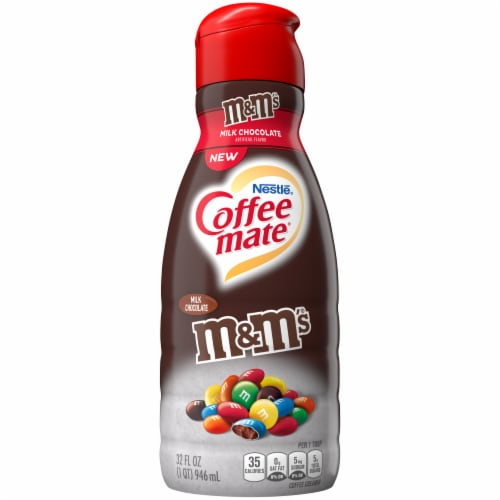 Coffee-mate M&M's Milk Chocolate Coffee Creamer Perspective: front