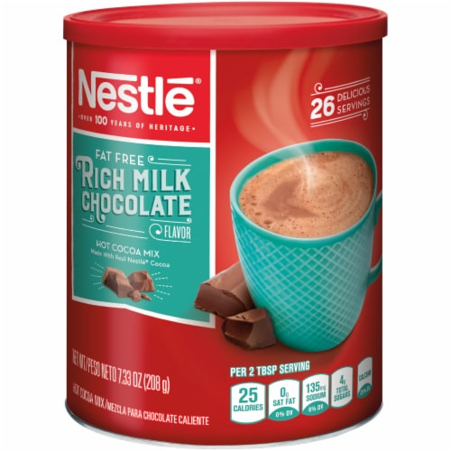 Nestle Fat Free Rich Milk Chocolate Hot Cocoa Mix Perspective: front