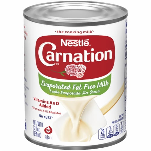 Carnation Evaporated Fat Free Milk Perspective: front
