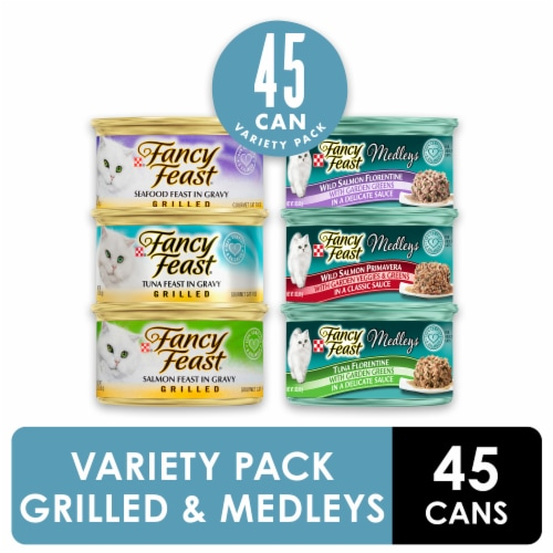 Fancy Feast Seafood Collection Adult Cat Wet Food Perspective: front