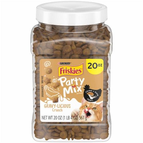 Friskies Party Mix Gravylicious Chicken & Gravy Flavors Cat Treats Perspective: front