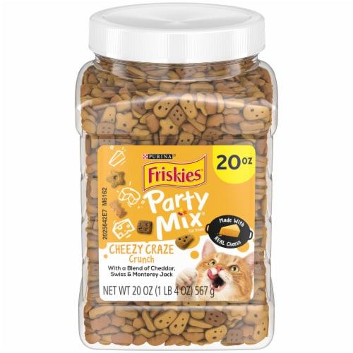 Friskies Party Mix Cheezy Craze Crunch Cat Treats Perspective: front