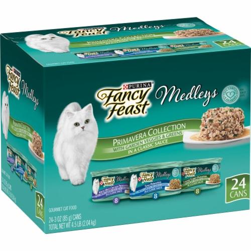 Fancy Feast Medleys Gourmet Primavera Collection Wet Cat Food Perspective: front