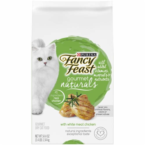 Fancy Feast Gourmet Naturals with White Meat Chicken Dry Cat Food Perspective: front