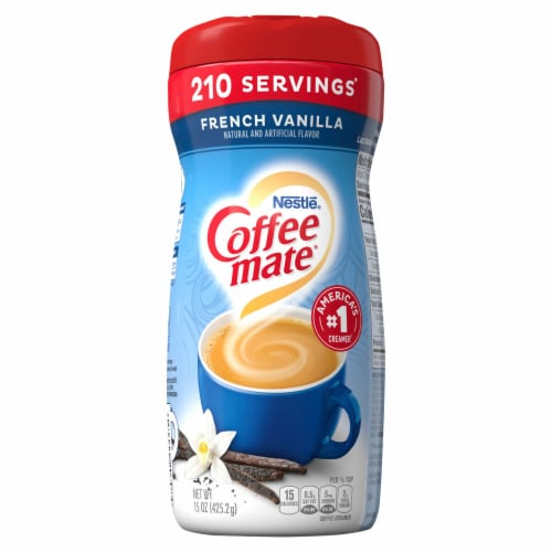Nestle Coffee mate French Vanilla Powder Coffee Creamer Perspective: front