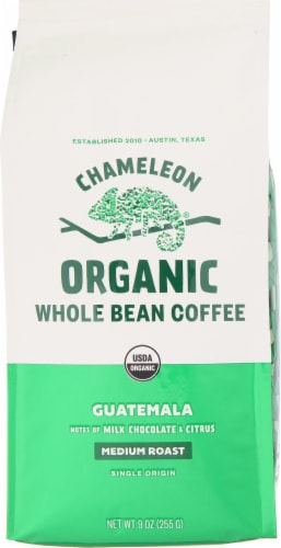 Chameleon Organic Guatemala Medium Roast Whole Bean Coffee Perspective: front