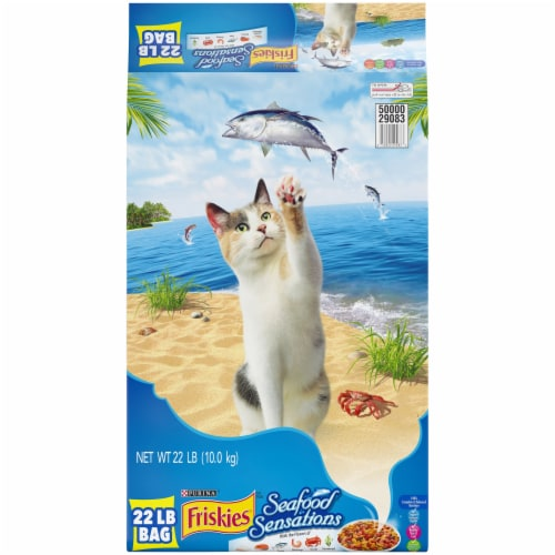 Friskies Seafood Sensations Dry Cat Food Perspective: front