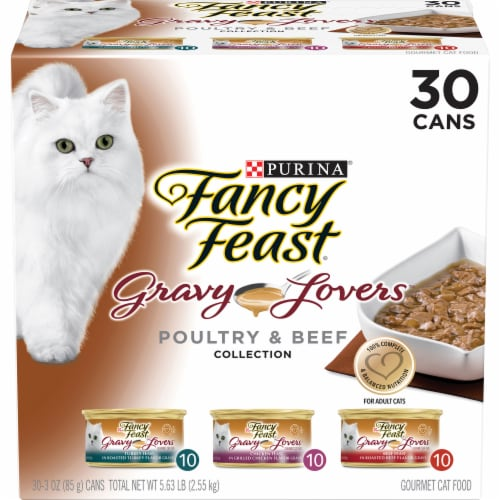 Fancy Feast Gravy Lovers Poultry & Beef Wet Cat Food Variety Pack Perspective: front