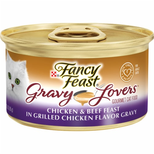 Fancy Feast Gravy Lovers Chicken & Beef in Gravy Wet Cat Food Perspective: front