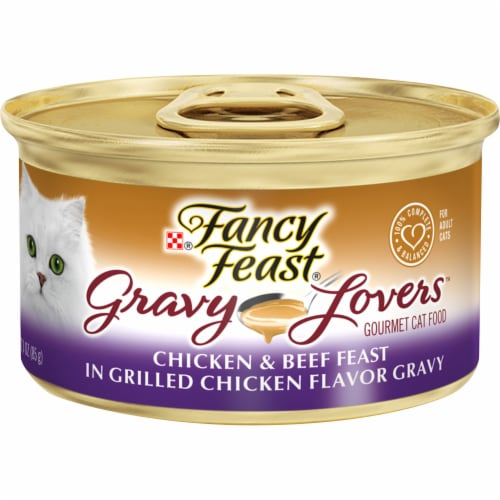 Fancy Feast Gravy Lovers Chicken and Beef Wet Cat Food Perspective: front