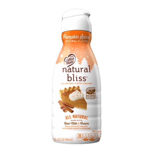 Coffee-mate® Natural Bliss® Pumpkin Spice Coffee Creamer Perspective: front
