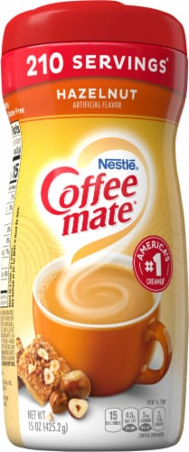 Coffee-mate Hazelnut Powder Coffee Creamer Perspective: front
