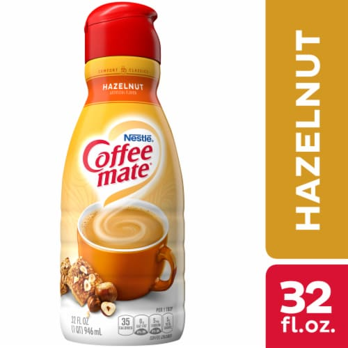 Nestle Coffeemate Hazelnut Liquid Coffee Creamer Image Perspective Front